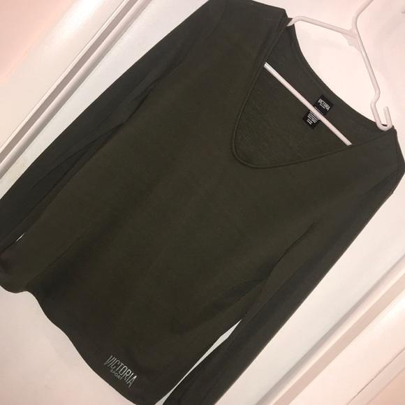 Victoria's Secret Tops - Victoria sport Olive long sleeve shirt